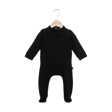 House Of Jamie - Bow Tie Babysuit Black