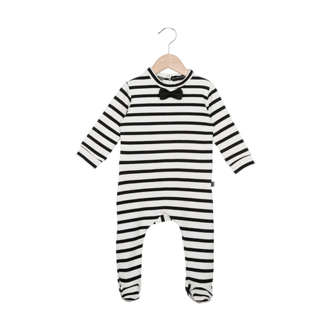 House Of Jamie - Bow Tie babysuit Breton