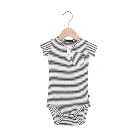 House Of Jamie - Button Bodysuit Little Stripes