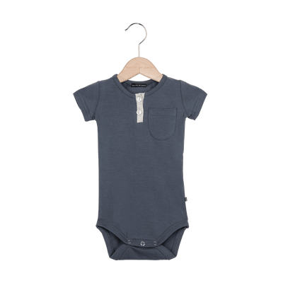 House of Jamie - Button Bodysuit Vintage Grey