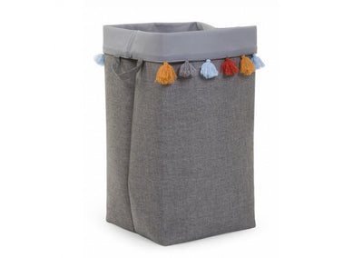 Childhome - CANVAS BOX 32X32X60 CM DARK GREY+TASSEL