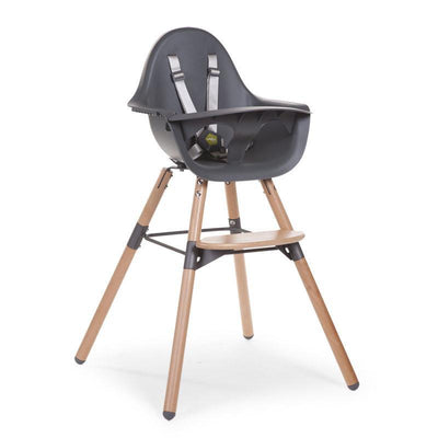 Childhome - EVOLU 2 CHAIR NATURAL/ANTHRACIET 2 in 1 + BUMPER