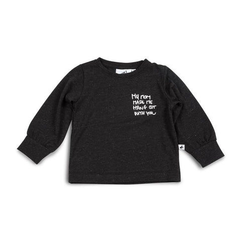 Cos I Said So - Long Sleeve Tee Black Melange My Mom