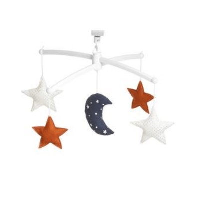 Pouce et Lina - Musical Mobile Navy Ginger Moon And Stars