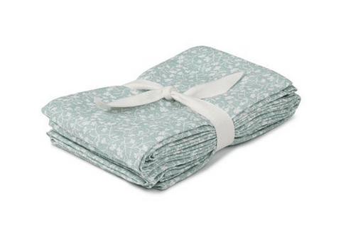Liewood - Hannah Muslin Cloth Urban Garden Dusty Mint 2 Pack