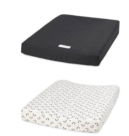 Changing Mat Cover Liewood Panda & Dots Dark Grey