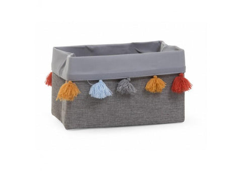 Childhome - CANVAS BOX 32X20X20 CM DARK GREY+TASSEL