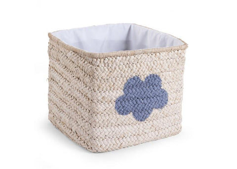 Childhome BOX STRAW WOVEN NATURAL STAR & CLOUD