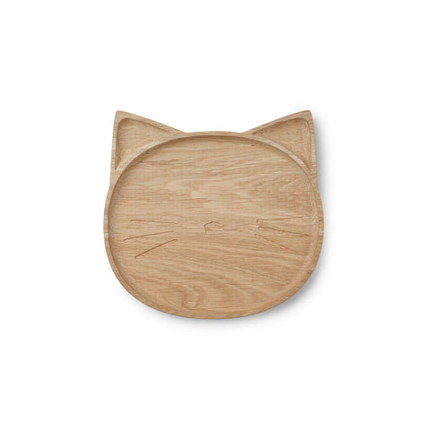 Liewood - Conrad Wood Plate Cat