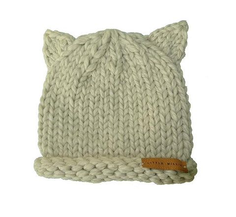 Little Millie - Knitted Bear Hat Beige