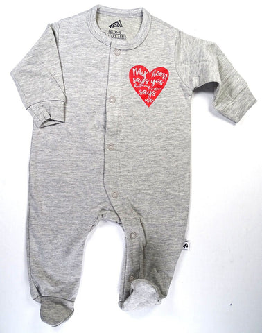 Cos I Said So - Onesie Heather Grey My Heart Says