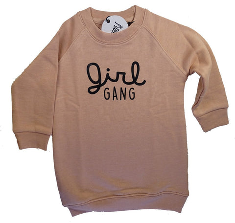 Cos I Said So - Sweater Dress Pink Girl Gang