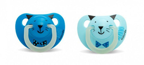 Set of 2 teethers Suavinex Night & Day Blue (6-18M)