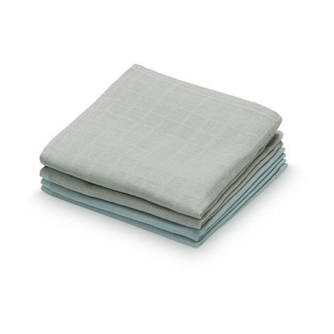 Cam Cam - Muslin Washcloth 4 pack Mix Petrol/Grey