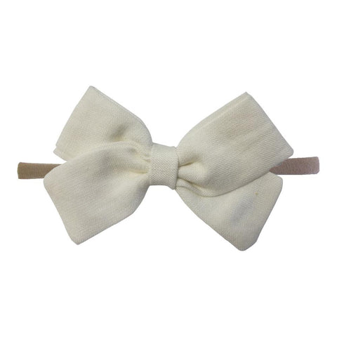 Little Millie - Headband Anna Bow White