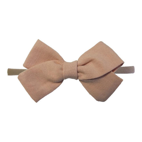 Little Millie - Headband Anna Bow Old Rose