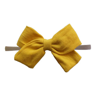Little Millie - Headband Anna Bow Mustard