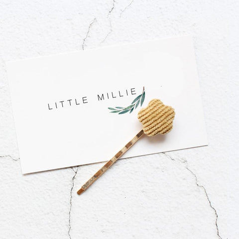 Little Millie - Hairpins Minimal Flower Yellow Set Of 2