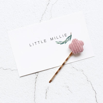 Little Millie - Hairpins Minimal Flower Pink Set Of 2