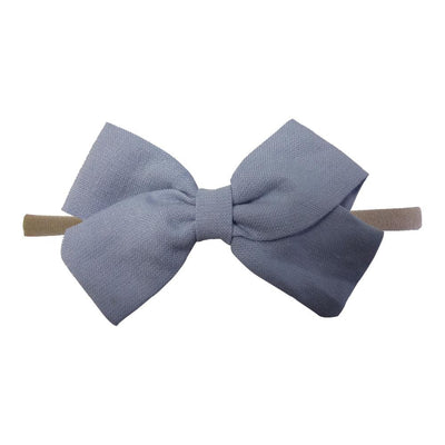 Little Millie - Headband Anna Bow Blue