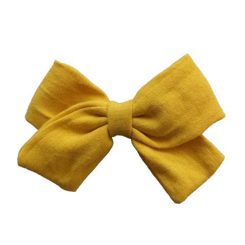 Little Millie - Hairclip Anna Bow Mustard