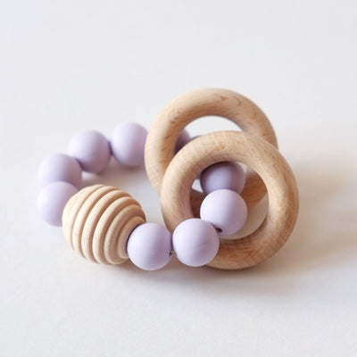 Blossom & Bear - Wooden Beaded Teething Toy Lavendar