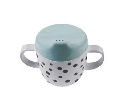 Done By Deer - Happy Dots 2 Handle Spout Cup Blue