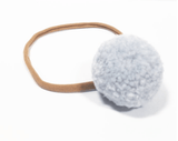 Little Millie - Headband Light Blue Single Pom Pom/Beige Nylon