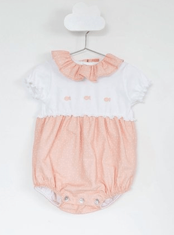 Baby Gi - Cotton Romper Little Fish Salmon