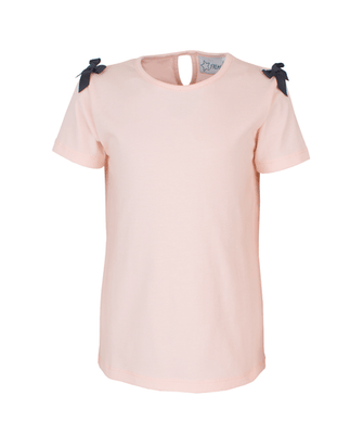 Starfreak - T-shirt With Bows Jersey Co/Elastin Solid Pink