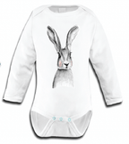 Miss Princess and Little Frog - Baby Romper TENCEL Long sleeves Rabbit