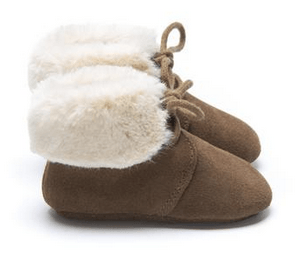MOCKIES - FUR BOOTS BROWN