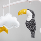 Pouce et Lina - Musical Mobile Black and Yellow Toucan
