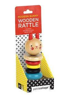 Petit Collage - Wooden Toys Rattle Toy Rabbit