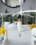 Pouce et Lina - Musical Mobile White and Yellow Cockatoo