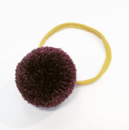 Little Millie - Headband Burgundy Single Pom Pom/Ocre Nylon