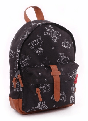 Kidzroom - Black & White Robot Backpack