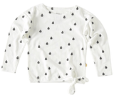 Little Label - Girls Knot T-Shirt Droplet Off White