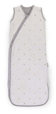 CHILDHOME - SUMMER SLEEPING BAG JERSEY GOLD DOTS