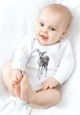 Miss Princess and Little Frog - Baby Romper TENCEL Long sleeves Bambi