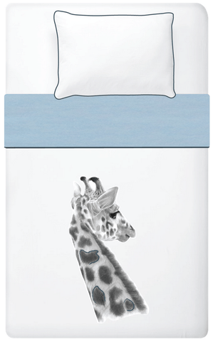 Miss Princess and little frog - Set Duvet cover Tencel Giraffe