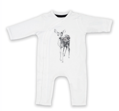 Miss Princess and Little Frog - Bodysuit Tencel long sleeves Bambi