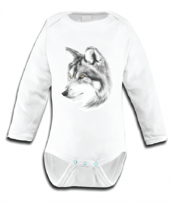 Miss Princess and Little Frog - Baby Romper TENCEL Long sleeves Wolf