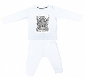 Miss princess and little frog - Pyjamas Tencel long sleeves Tiger