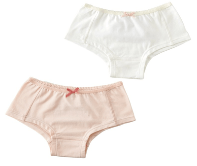 Little Label - Girls hipster (2-pack) uni Pink & Off White