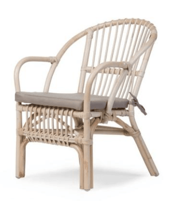 Childhome - MONTANA KID CHAIR NATURAL + CUSHION