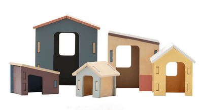 Kids Concept - Small Wooden Houses Set