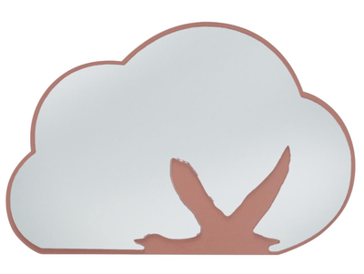 Sebra - Mirror with wooden background, cloud with swan