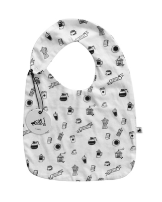 Cos I Said So - Coffee Print Bib