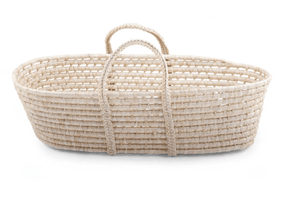 Childhome - MOSES BASKET SOFT CORN HUSK NATURAL + MATTRESS
